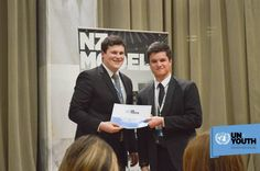 Jacobi Kohu-Morris Youth MP 2013 with Un Youth Vice President