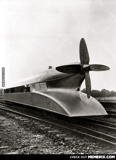 Schienenzeppelin - A German high speed train from the 1930s. Top speed was 210 km/h .