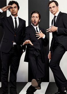 Raj, Howard, and Sheldon............Smart is the new sexy, eh? ....yes!