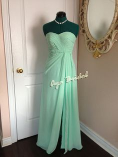 Vestido de fiesta de noche sin tirantes vestido largo de Dama de honor / vestido de novia menta / vestido rosa Nude Dama Dresses, Prom Dresses, Formal Dresses, Bridal Party Dresses, Bridesmaid Dresses, Bridesmaids, Wedding Attire, Dream Dress, Pink Dress