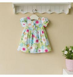 Mom and Bab Woven Dress - Blue Flowers - sadinashop.com  Dress atau gaun cantik untuk bayi dan anak perempuan.