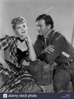 John Wayne Claire Trevor Directed By John Ford Stock Photo, Royalty Free Image: 22274460 - Alamy