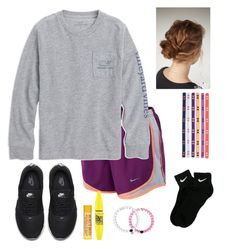 """""""I'm in the business of making money"""" by fashionpassion2002 ❤ liked on Polyvore featuring NIKE, Under Armour, Maybelline and Everest"""