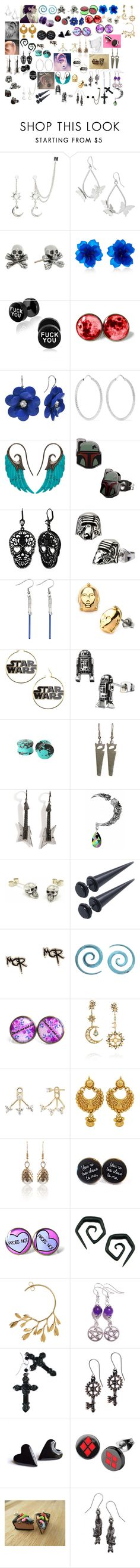 """""""Earrings 5"""" by spellcasters ❤ liked on Polyvore featuring Hot Topic, King Baby Studio, Matthew&Melka, Carolina Bucci, Noor Fares, Betsey Johnson, Lynn Ban, Fou Jewellery, Diego Percossi Papi and EF Collection"""