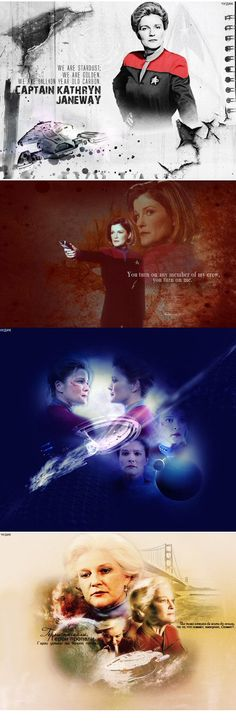 Voyager's Captain Kathryn Janeway- Kate Mulgrew.