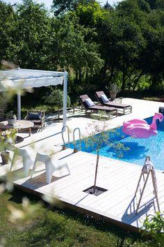 Rooftop Garden, Garden Pool, Interior Garden, Modern Boho, Liv, Pergola, New Homes, Deck, Backyard