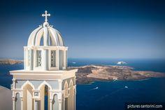 View from Firostefani, Santorini Island, Greece Santorini Island, Santorini Greece, Greek Isles, White Building, Buy Prints, Beautiful Islands, Staycation, Travel Style, Taj Mahal