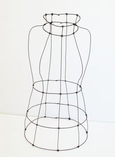 Large Wire Art Dress Form - Mannequin for Decor or Display