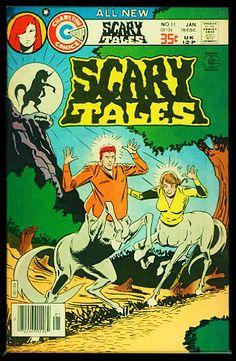 Scary Comics, Horror Comics, Real Zombies, Vampire Bride, Valley Of Death, Swamp Creature, Charlton Comics, Scary Tales, Shark Bait