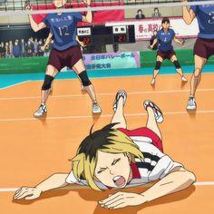 Kenma Kozume, Kuroken, Haikyuu Nekoma, Haikyuu Volleyball, Volleyball Anime, Old Anime, Anime Guys, Anime Meme Face, Preppy Stickers