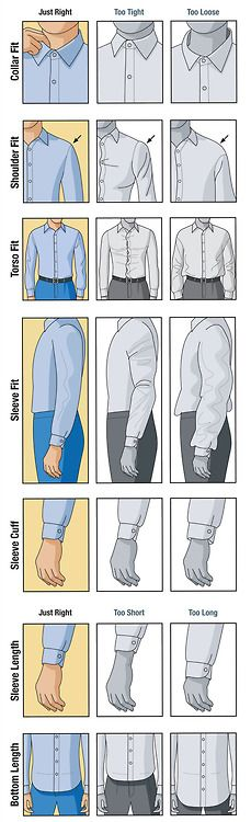 How a dress shirt should fit