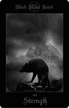 Black Metal Tarot 7 by wyldraven.deviantart.com