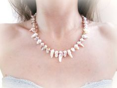Baroque pearls necklace freshwater pearls by MalinaCapricciosa