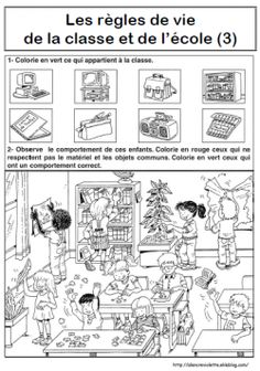 REGLES DE VIE Organisation Administrative, Cycle 3, Kids Learning, Montessori, Diagram, Activities, Teaching, School, Attitude