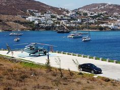 Our clients have just arrived @Santa Marina helipad