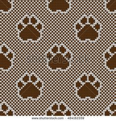 knitted seamless pattern pads
