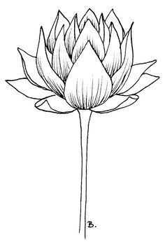 Beccy's Place, free printable lotus flower, great for blackwork