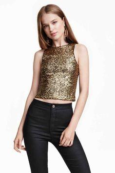 Short glittery top | H&M