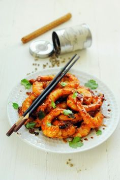 Pepper and caramel shrimps - Recipe in English...