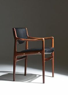 Gerhard Berg; Teak and Leather Armchair, 1961.