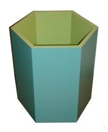 custom lacquer hex wastebasket at lamshop