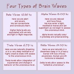Cure Long-term Illness - Four Types of Brain Waves - Alpha Waves are a state of Hypnosis Cure Long-term Illness - My long term illness is finally going away, and I think I might have found the love of my life. Brain Science, Brain Food, Stress, Sound Healing, Brain Waves, Brain Health, Ayurveda, Psychology, The Cure