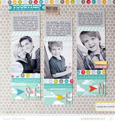 12 x 12 / scrapbook / family pictures