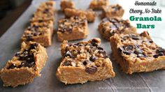 No bake granola bars (Refrigerator nut butter/oat/coconut oil bars--good! But not to be room temp)