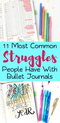 There are many reasons that people struggle with bullet journals. Whether you have complicated layouts, trouble finding inspiration, or lack motivation, this post explores the most common pitfalls people have with their bujos. If you want to know how to start a bullet journal right, keep this article in mind to help prevent these common concerns. #bulletjournal #bulletjournalideas #bujo #bujocommunity #planner #timemanagement