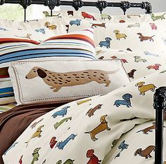 Mama! Let's get these Dachshund Flannel Sheets - we promise we won't chew holes in them!