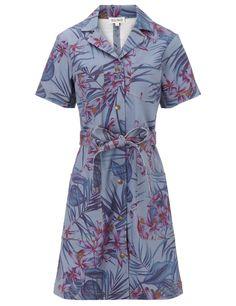 Floral Denim Belted Dress | Suno | Avenue32