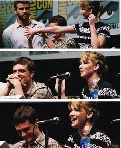 i really hope next time they will also attend the next comic-con for mockingjay and together with sam claflin i need to see some bromance and how will jen interact with sam and josh being there because we all know how serious liam is ahaha