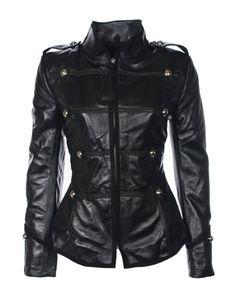 Boda Skins - Elizabeth Military Jacket, Oil Black