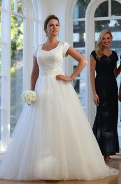42a6d62404a5 Bridal Gown, Ballgown, Beaded Waistband, Sweetheart Neckline Modest Wedding  Gowns, Bridal Gowns. Veronica Michaels