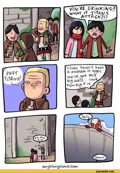 attack of the titans funny | comics,funny comics & strips, cartoons,anime,attack on titans ...