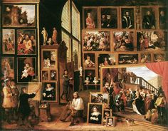 David Teniers the Younger The Gallery of Archduke Leopold in Brussels - David Teniers the Younger, painting Authorized official website