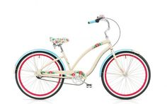 Remember fun? Imagine where you could go on a HULA 3i by Electra--available in ivory/blue. *HIBISCUS FLOWERS!? HECK YES*