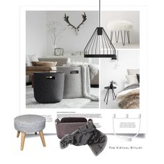 How to use a basket as deco item - Fashion look Scandinavian Design, Mid Century, Fashion Looks, Basket, Exterior, Interior Design, Shopping, Furniture, Home Decor
