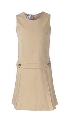 Bienzoe Big Girl's Twill Jumper School Uniforms Button Dress Khaki Size 16 Bienzoe http://www.amazon.com/dp/B01D8U03LO/ref=cm_sw_r_pi_dp_43raxb0SCJN4M