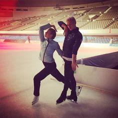 Carolina Kostner(Italy) and Adam Rippon(USA)