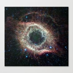 Helix Nebula Canvas Print by Spaced Out, Image Credit: NASA/JPL-Caltech #Space #outerspace #astronomy #astrology #astrophotography #stars #starlight #light #galaxy #nebula #jpl #nasa #caltech #helixnebula