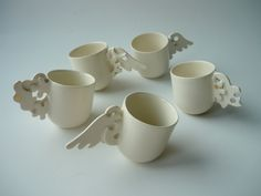 """Tea cups by """"tochka & tochka"""" - a studio for art and interior design, for art objects and ideas."""