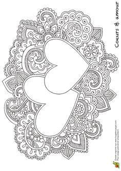 Coeurs Mandala Ensembles, page 15 sur 16 sur HugoLescargot.com Colorful Mandalas