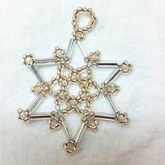 beaded snowflake (angielina74's photo on Instagram)