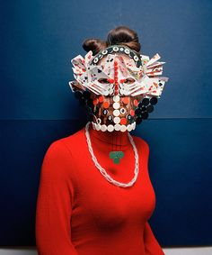 Swiss photographer Marie Rime is known for her creative portraits that incorporate costumes made from everyday objects. In her Masques series, Marie uses pieces from board games and puzzles to. Arte Tribal, Tribal Art, Masks Art, Arte Popular, Game Pieces, Art Plastique, Headgear, Mask Making, Mask Design