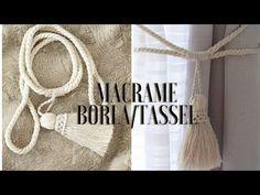 MACRAME-Retenedor De Cortinas /Holdback Curtina - YouTube Micro Macramé, Macrame Plant Hangers, Weaving Textiles, Macrame Projects, Macrame Tutorial, Macrame Patterns, Boho Diy, Macrame Knots, Crochet Videos