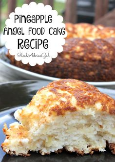 Light, airy and so delicious Pineapple Angel Food Cake Recipe. Only 4 Weight Watchers Points Plus per serving.