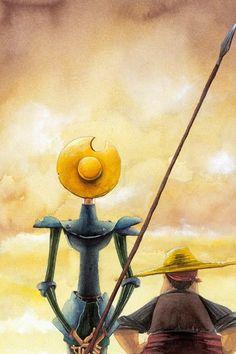 Don Quijote con Sancho Panza
