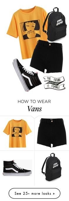 """Girl Gang"" by imanamericanpsycho on Polyvore featuring Vans and River Island"