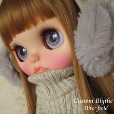 *カスタムブライス*Custom Blythe*Hiver froid_画像1 Cute Dolls, Blythe Dolls, Auction, Crochet Hats, Babies, Pictures, Makeup Ideas, Eyes, Knitting Hats